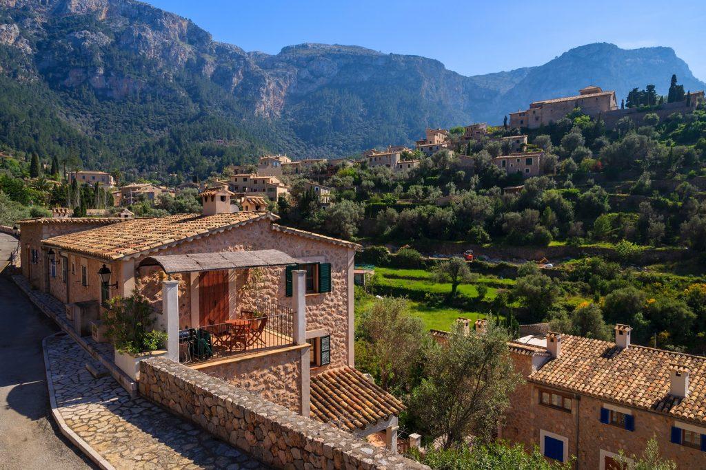 Deia village in Mallorca