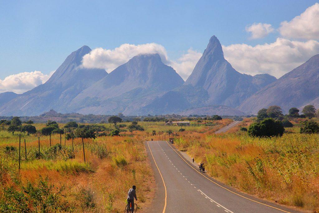 bike rider in Mozambique