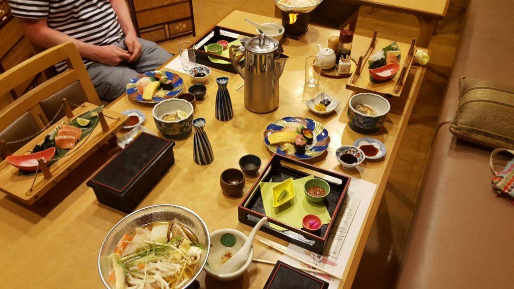 Shikoku evening meal