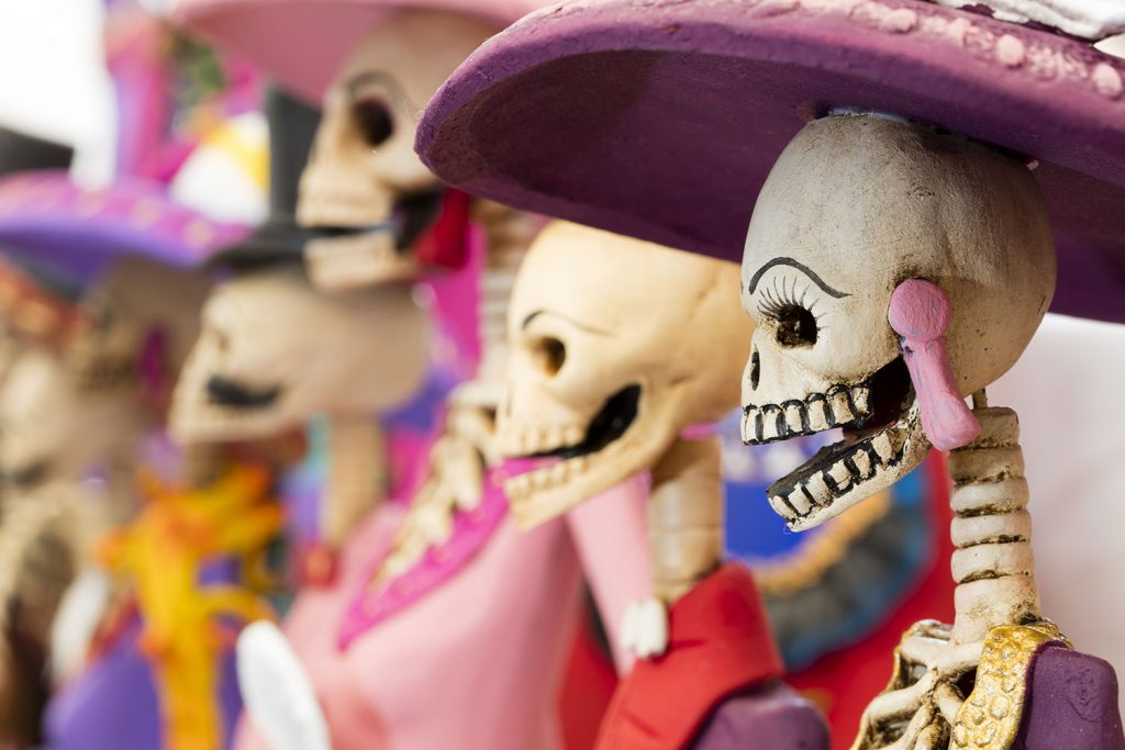 Day of the Dead figures in Mexico