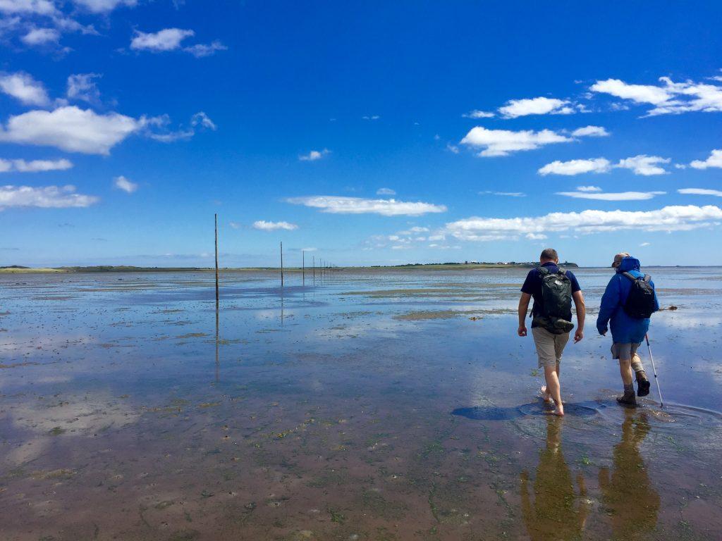 Crossing the Causeway to Lindisfarne