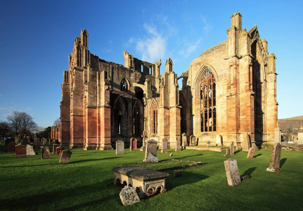 Melrose Abbey on St Cuthbert's Way