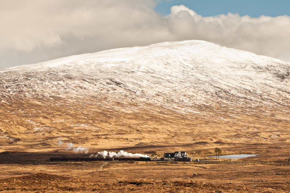 Wide open scenery at Corrour Station