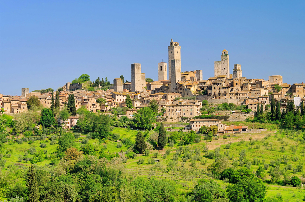 San Gimignano in the distance