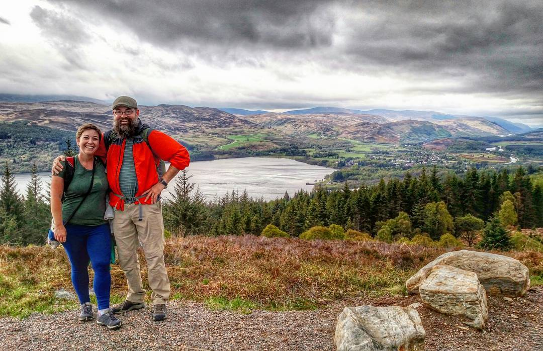 Hikers Enjoy the stunning scenery on the Great Glen Way