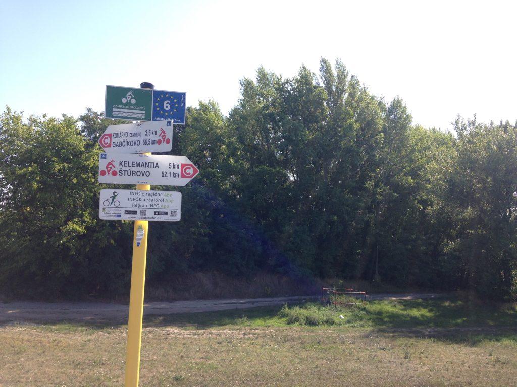 EuroVelo 6 cyclepath sign