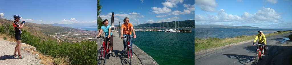 three examples of easy to moderate cycling holidays.