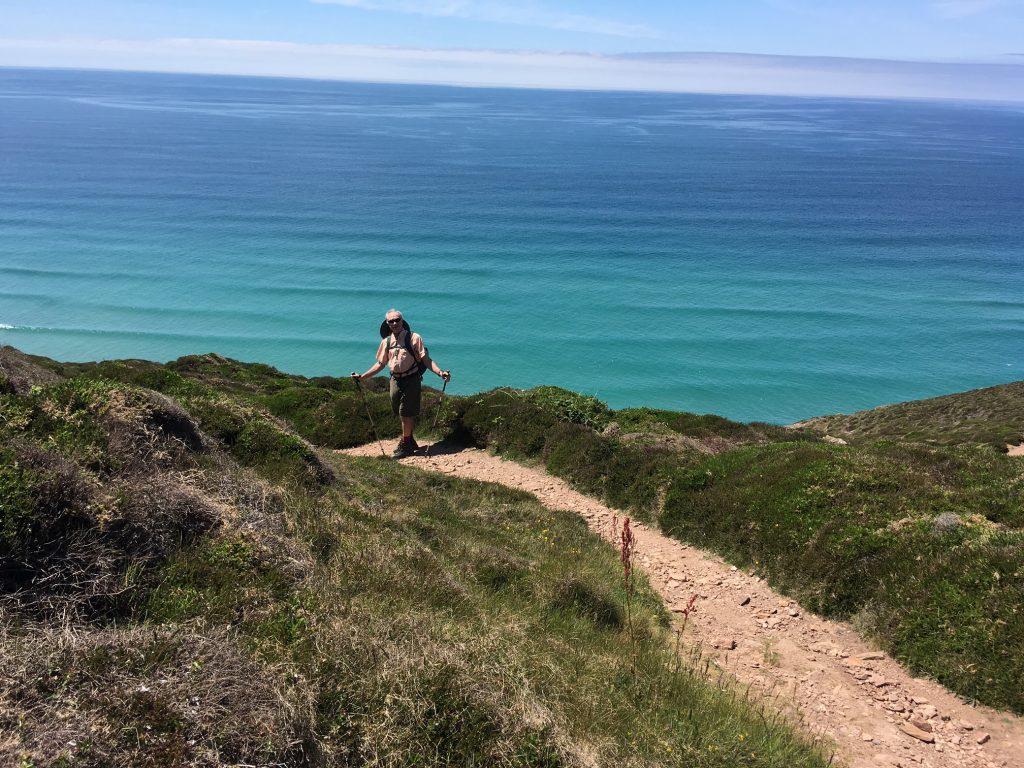 HIker on the South West Coast Path