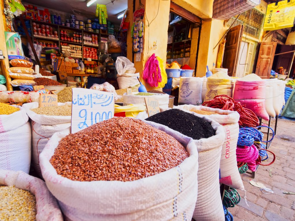 Fez market morocco