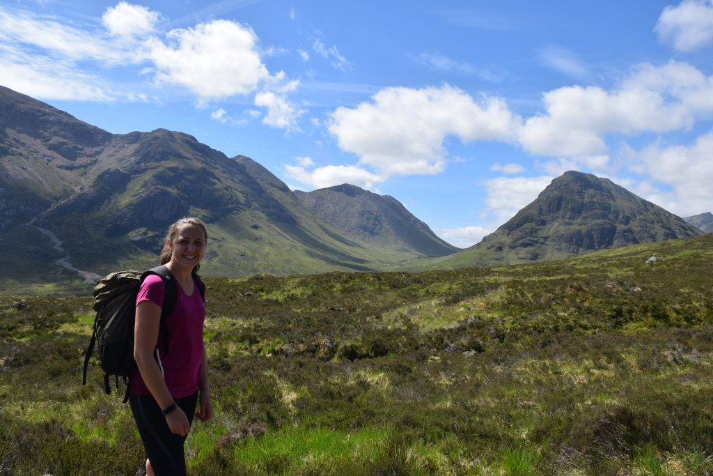 Hiker on the West Highland Way