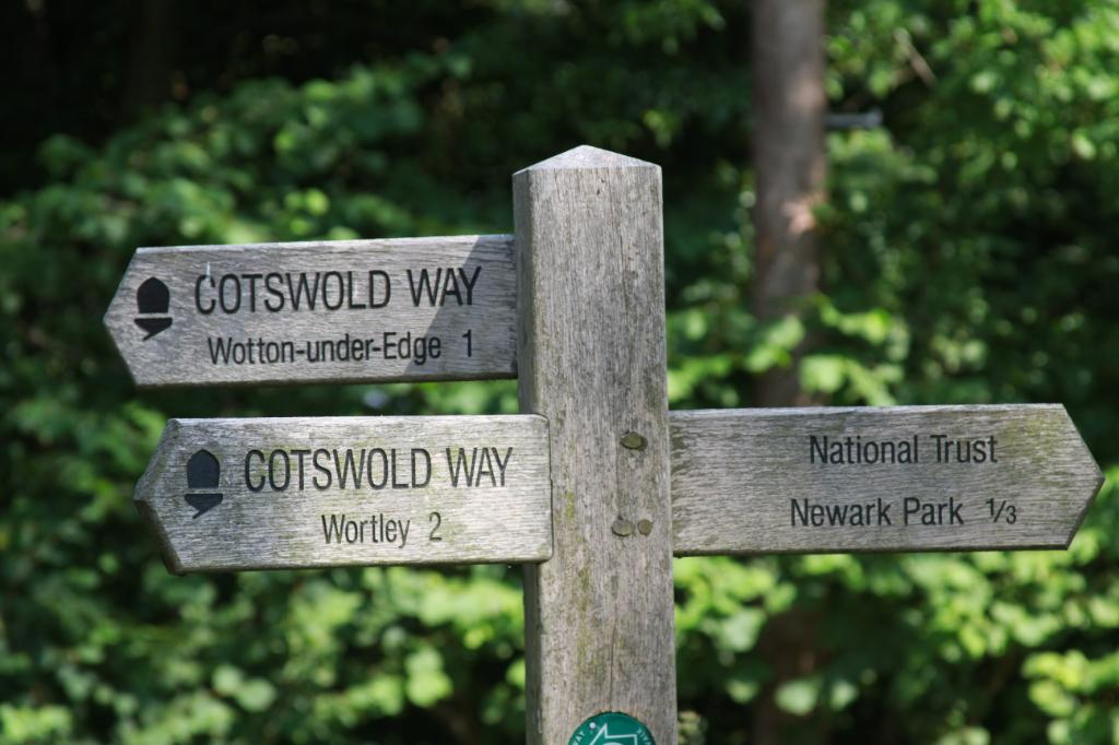 Signpost on the Cotswold Way