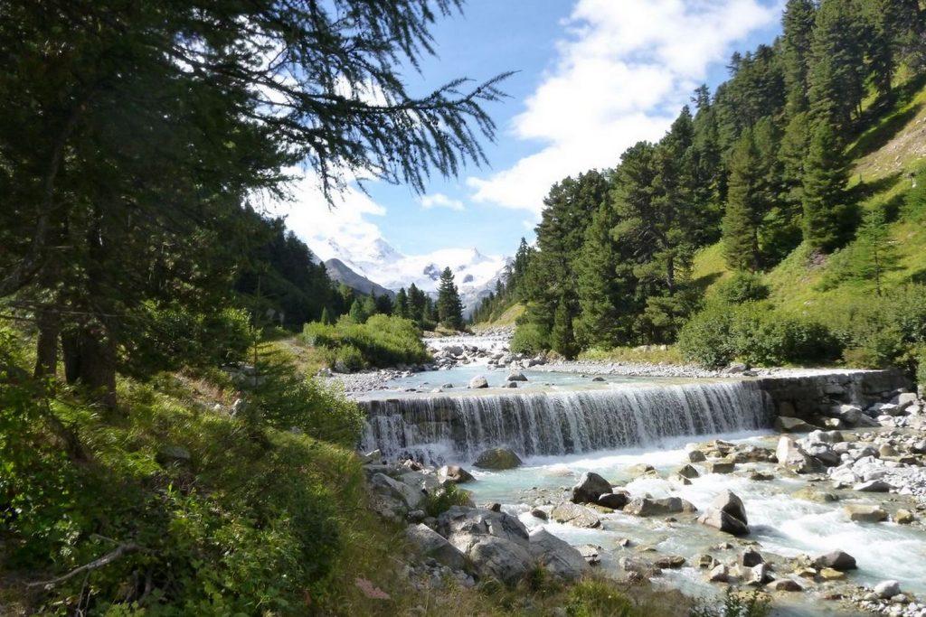 Engadine Valley Swiss Alps