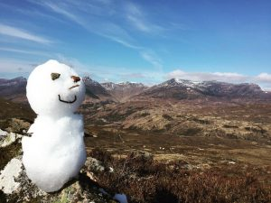 snowman on the west highland way