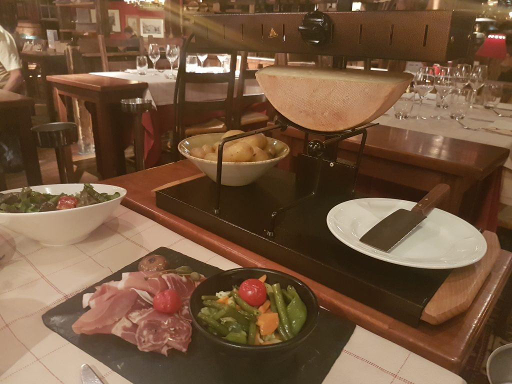 Raclette on Tour du Mont Blanc
