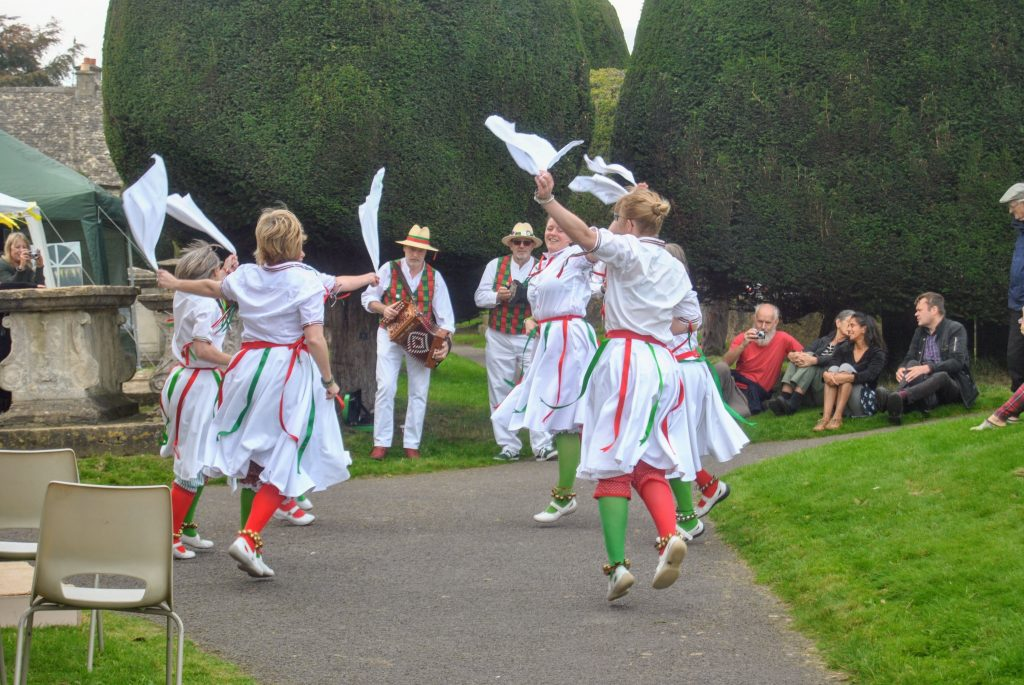 Dancers at a festival in the Cotswolds
