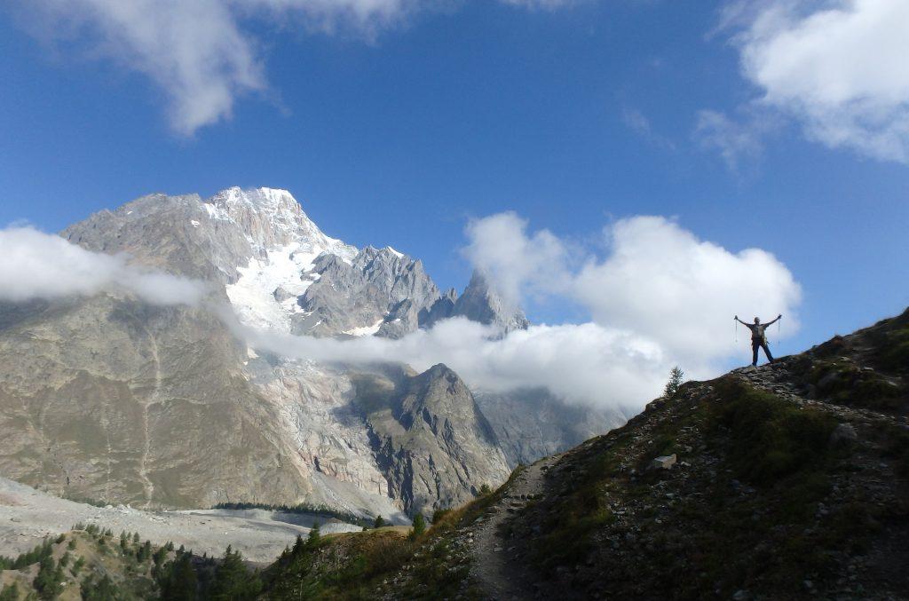 Walker on the Tour du Mont Blanc
