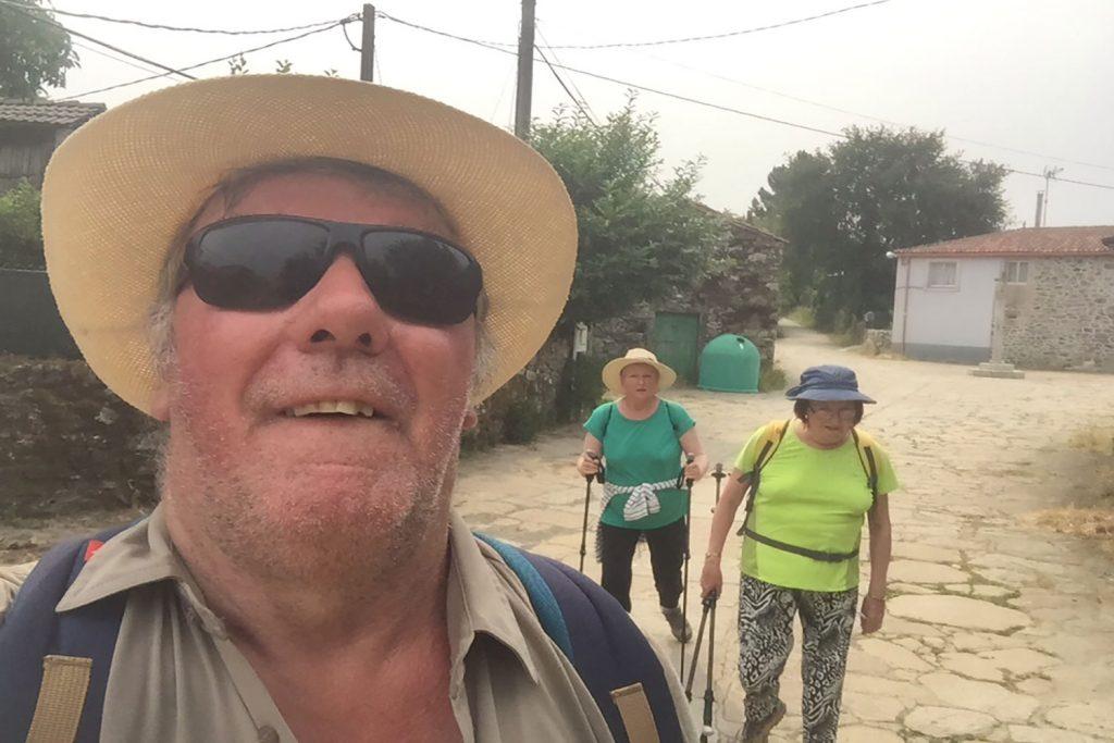 hikers on camino de santiago