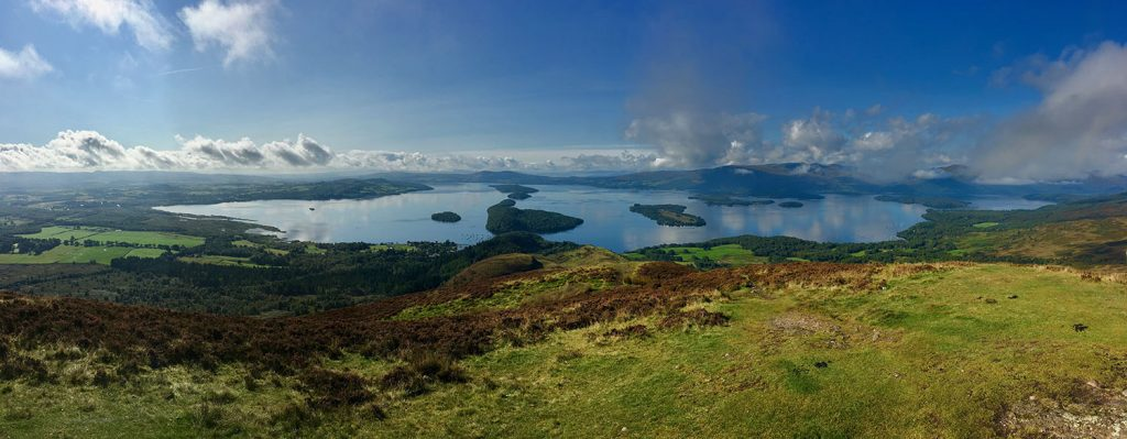 View over Loch Lomond in Scotland.