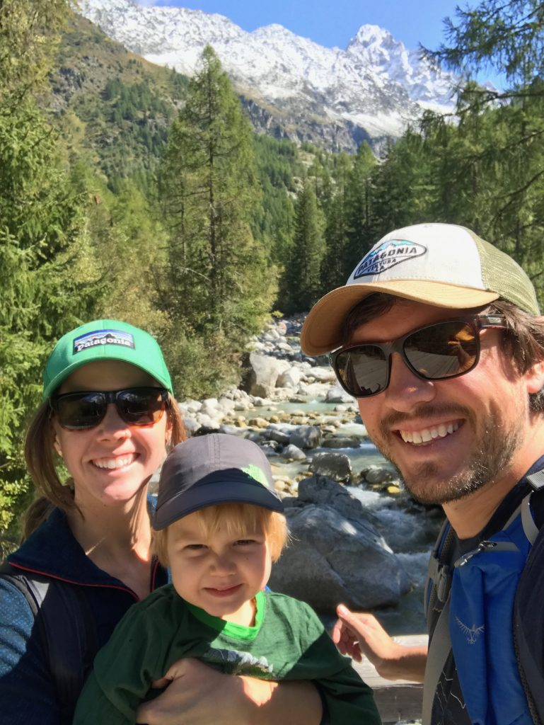 Young Family on a self-guided Tour du Mont Blanc