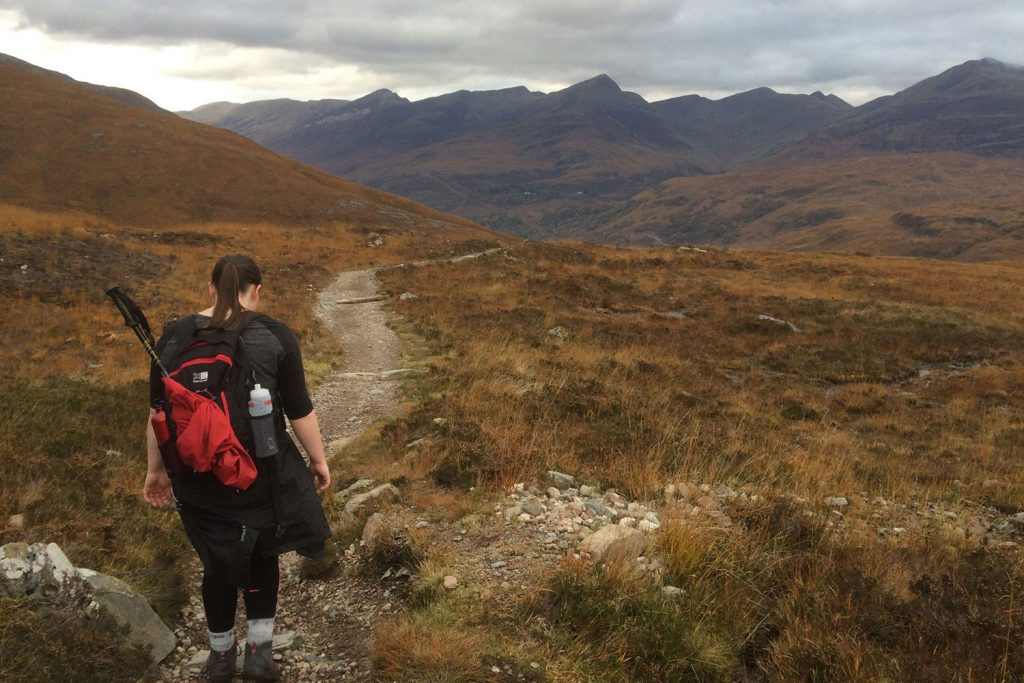 West Highland Way walker