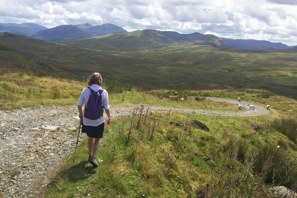 Walker on the Rob Roy Way