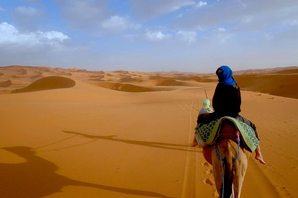 Claire travel camel ride
