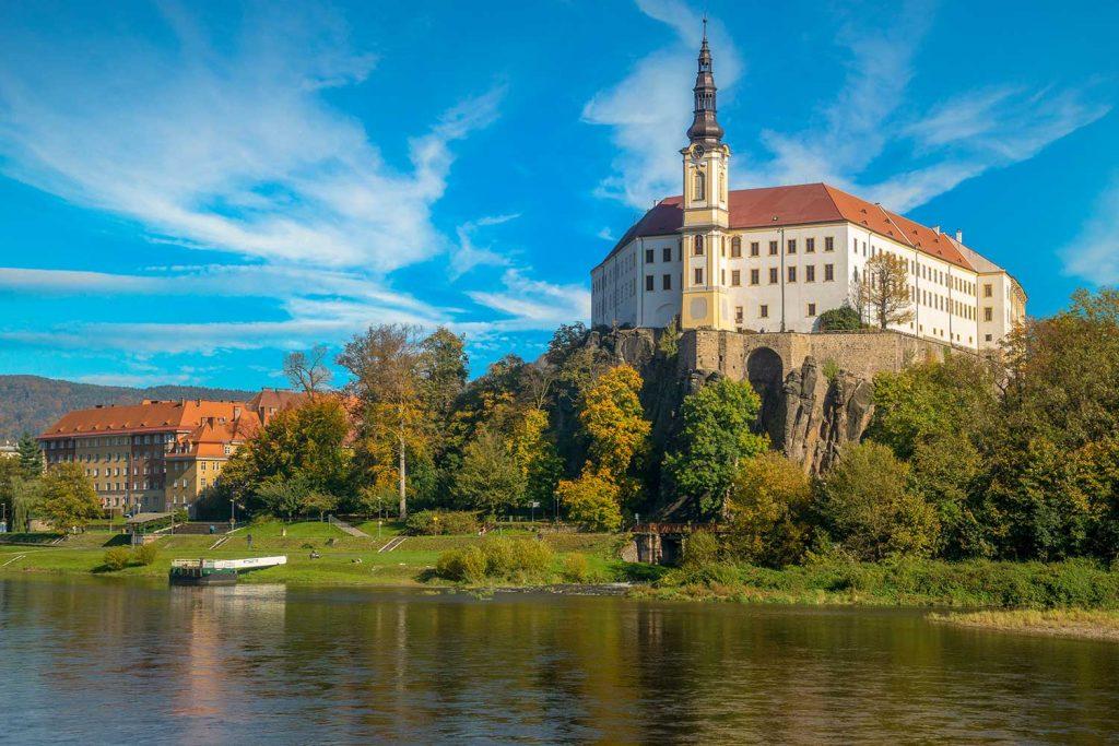Decin Castle on the Elbe