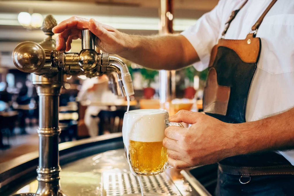 Czech Beer being poured