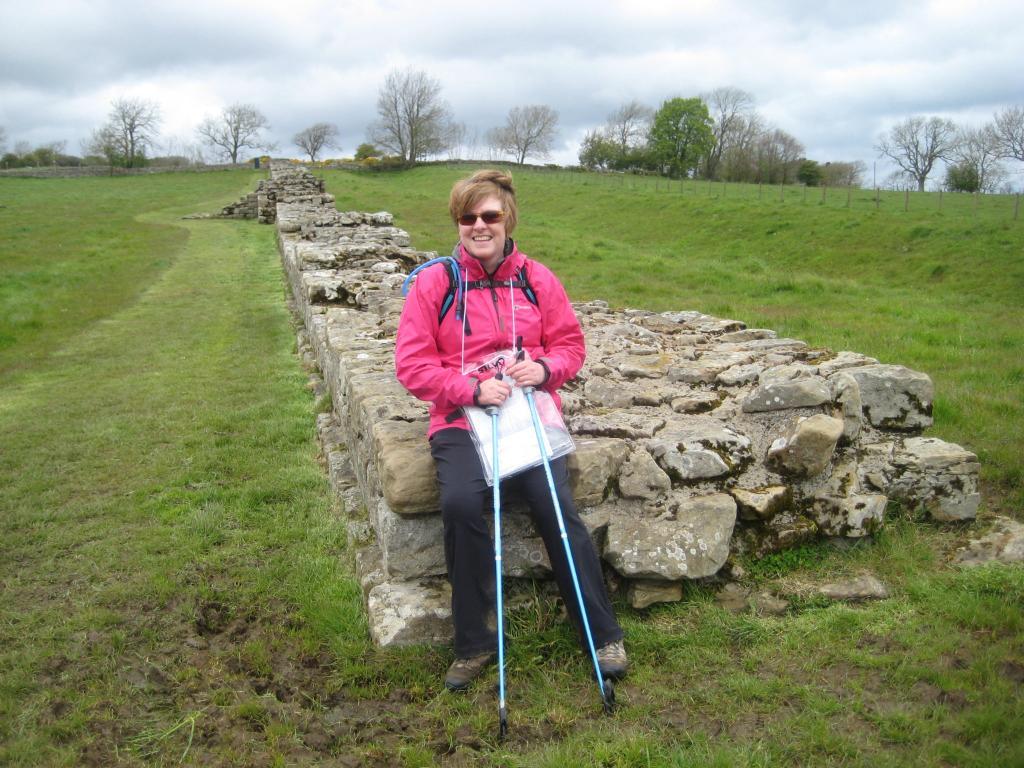 Hiker on Hadrian's Wall Walk