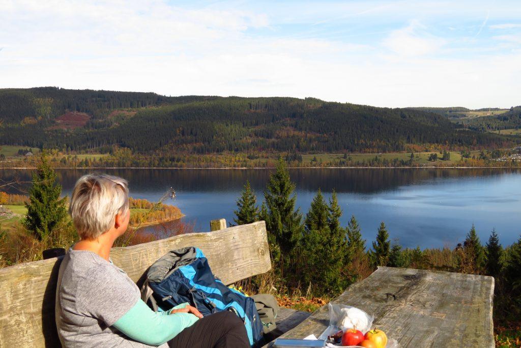 Hiker taking a break