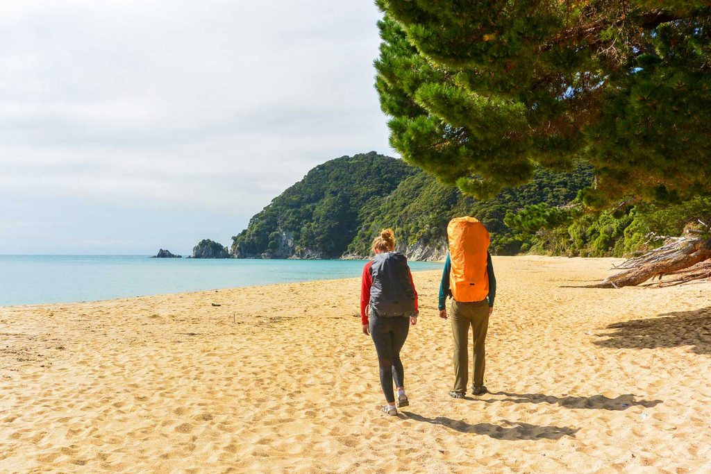 Hikers on Abel Tasman Track