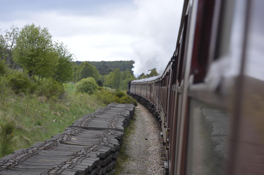 steam train in Aviemore