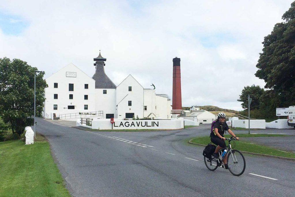 Cycling at Lagavulin on Islay