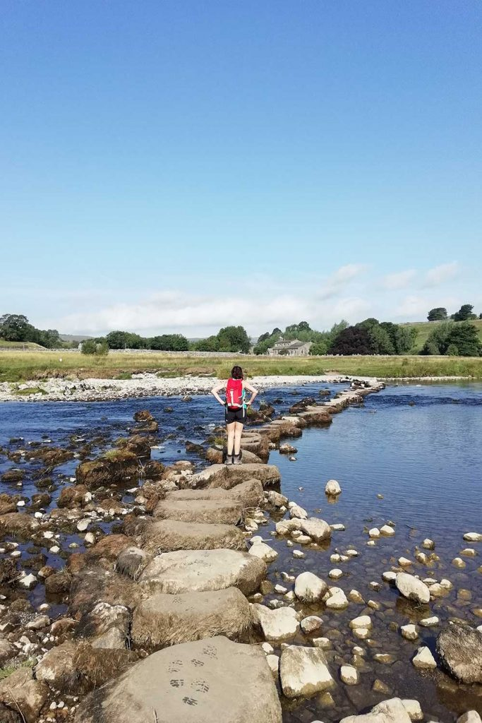 Stepping stones on the Dales Way