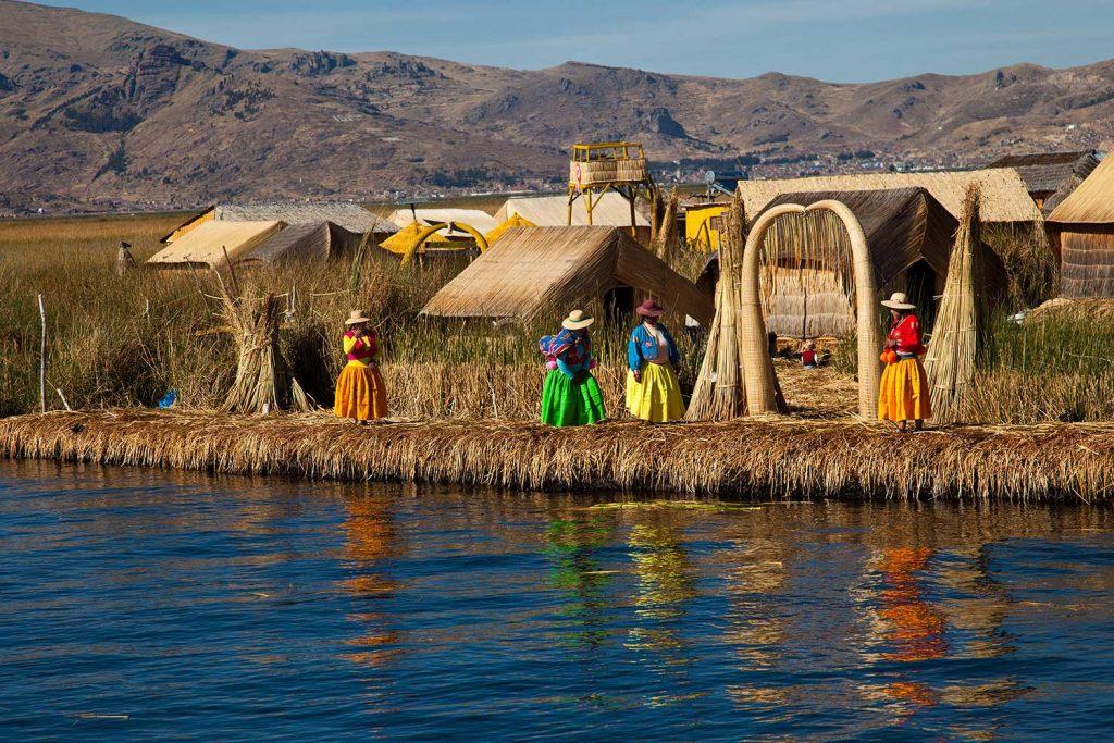 Floating islands lake titicaca